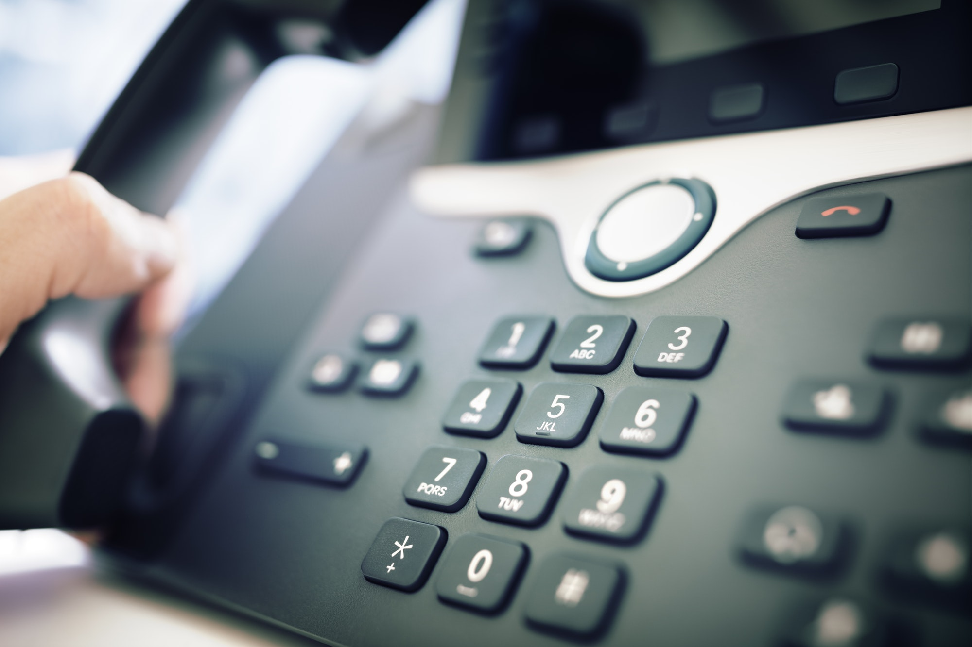 Dialing a telephone in the office